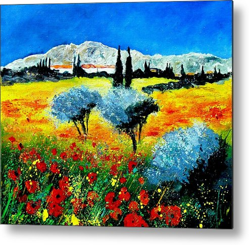 Poppies Metal Print featuring the painting Provence by Pol Ledent