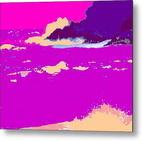 Waves Metal Print featuring the photograph Purple Crashing Waves by Ian MacDonald