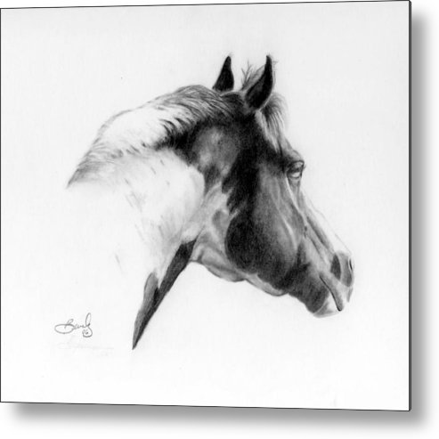 Pencil Drawing Metal Print featuring the drawing Racer by Beverly Johnson