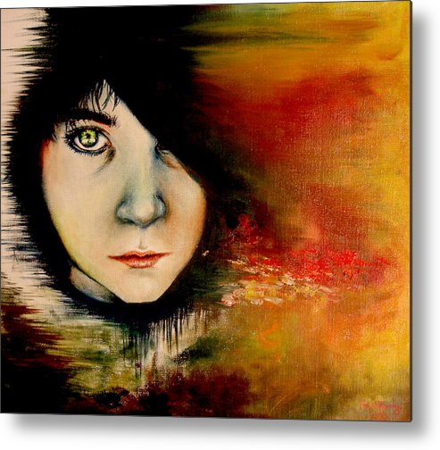 Sunset Metal Print featuring the painting Regaining Strenght by Freja Friborg