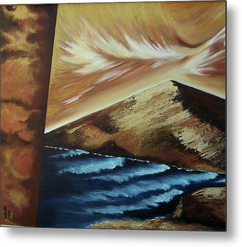 Metal Print featuring the painting Sign of Truth by Ara Elena