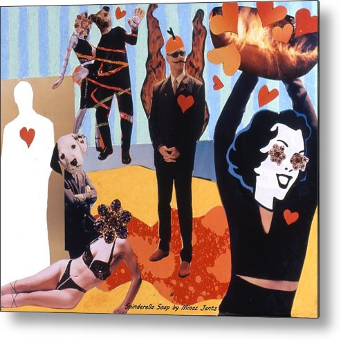 Hearts Metal Print featuring the drawing Soap Scene #18 Burn in Heaven at the Club Relish by Minaz Jantz