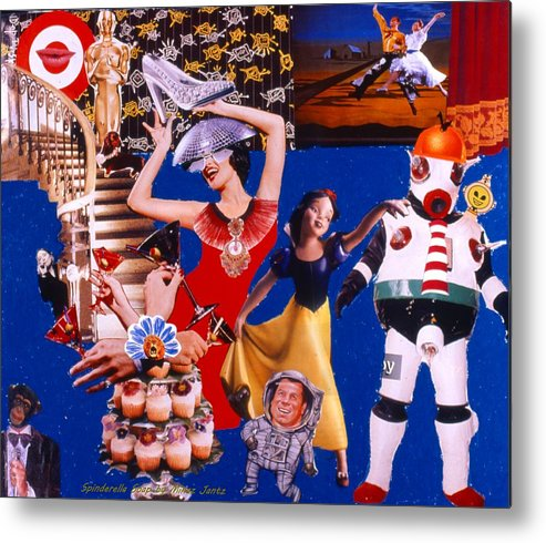 Surreal Metal Print featuring the drawing Soap Scene #23 Oscar's Kiss of Success by Minaz Jantz