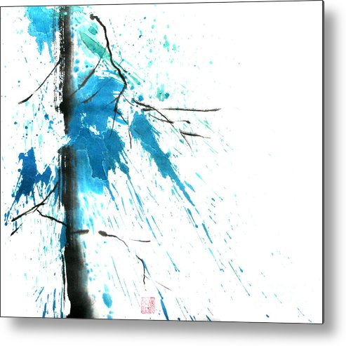 Strong Metal Print featuring the painting Spirit Of Pine I by Mui-Joo Wee