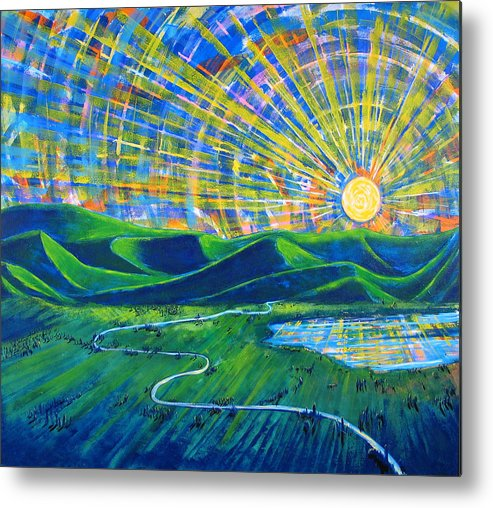 Sun Metal Print featuring the painting Sunscape by Rollin Kocsis