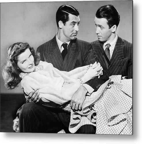 Jimmy Stewart Metal Print featuring the photograph Cary Grant, James Stewart by Bettmann