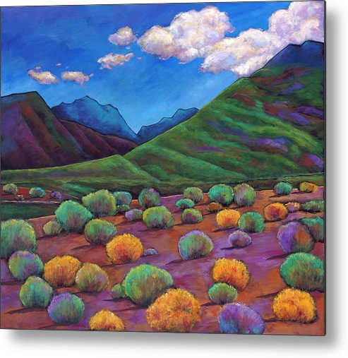 Arizona Metal Print featuring the painting Desert Valley by Johnathan Harris