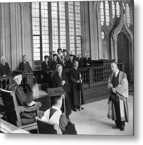 Education Metal Print featuring the photograph Doctor Of Literature by Erich Auerbach
