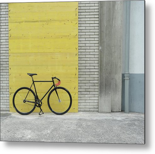 Tranquility Metal Print featuring the photograph Fixie by Gaëtan Rossier - Switzerland