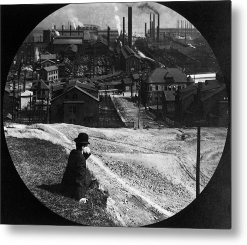 Working Metal Print featuring the photograph Homestead Steel Works by Hulton Archive