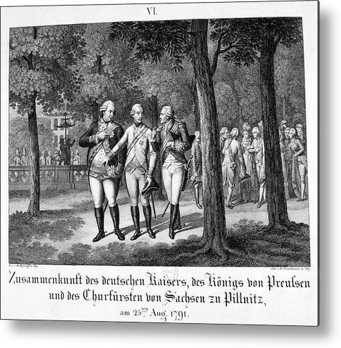 Engraving Metal Print featuring the drawing Meeting The German Emperor, 25th by Print Collector