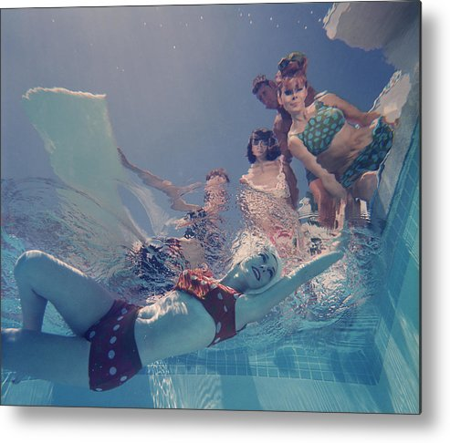 Underwater Metal Print featuring the photograph Palm Springs Fashion, No. 8 by Lawrence Schiller