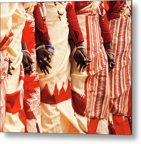 People Metal Print featuring the photograph Santhal Dance by Sourav Saha Photography