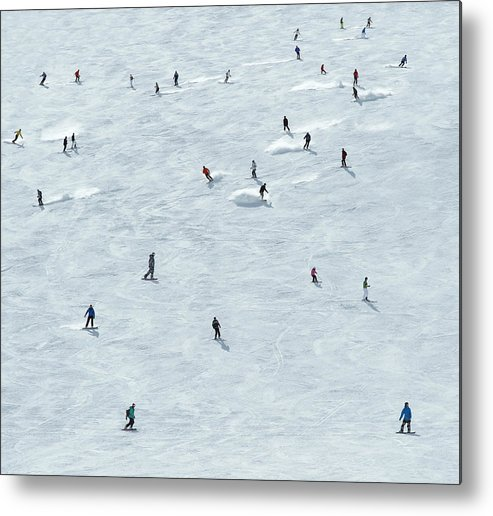 Skiing Metal Print featuring the photograph Skiing In Mayrhofen Austria by Mike Harrington