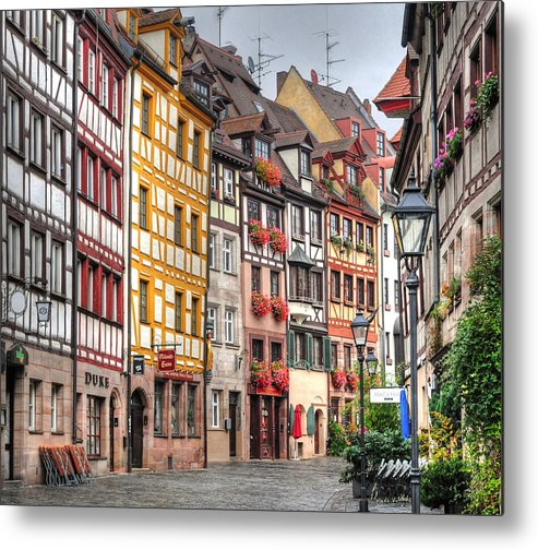 Outdoors Metal Print featuring the photograph Weissgerbergasse, Nuremberg by Habub3