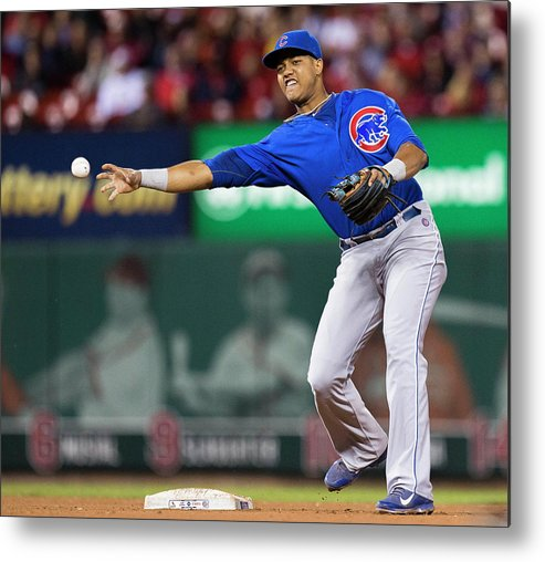 Double Play Metal Print featuring the photograph Starlin Castro by David Welker