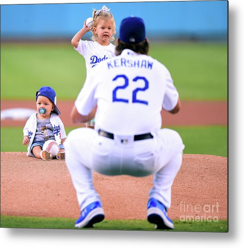 Child Metal Print featuring the photograph Clayton Kershaw by Harry How