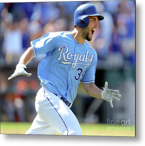 American League Baseball Metal Print featuring the photograph Eric Hosmer by Ed Zurga