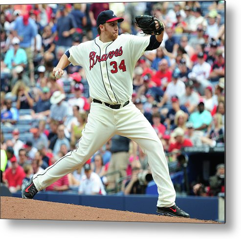 Atlanta Metal Print featuring the photograph Aaron Harang by Scott Cunningham