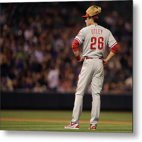 Baseball Pitcher Metal Print featuring the photograph Chase Utley by Doug Pensinger
