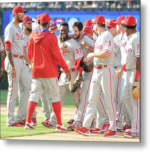 People Metal Print featuring the photograph Cole Hamels by David Banks