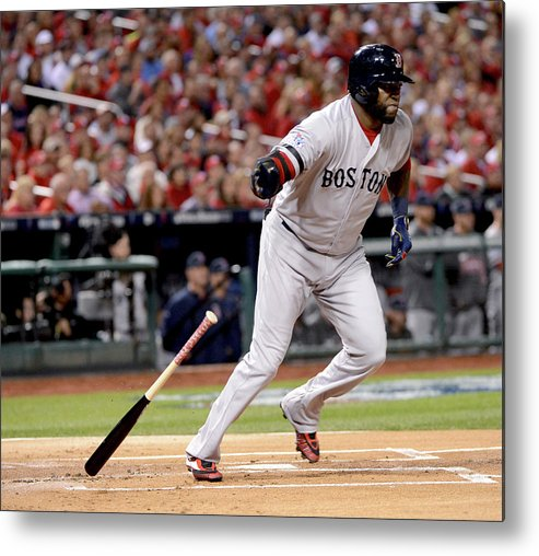 Playoffs Metal Print featuring the photograph David Ortiz by Ron Vesely