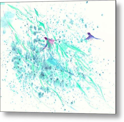 In The Gentle Breeze Metal Print featuring the painting Gentle Breeze by Mui-Joo Wee