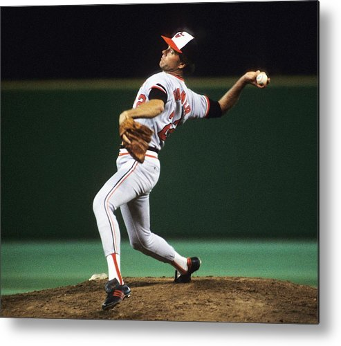 1980-1989 Metal Print featuring the photograph Jim Palmer by Ronald C. Modra/sports Imagery