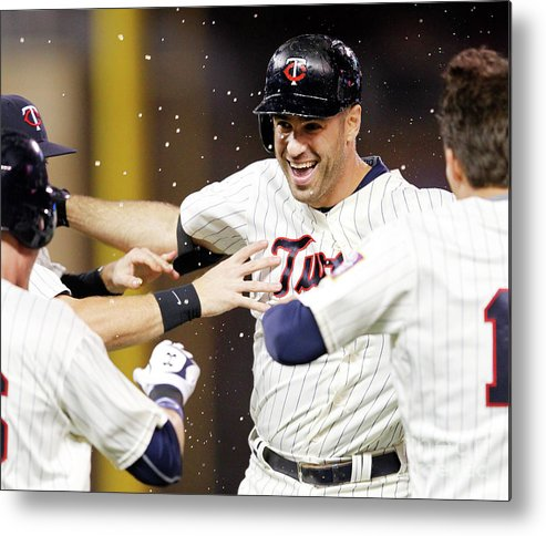 Joe Mauer Metal Print featuring the photograph Joe Mauer by Andy King