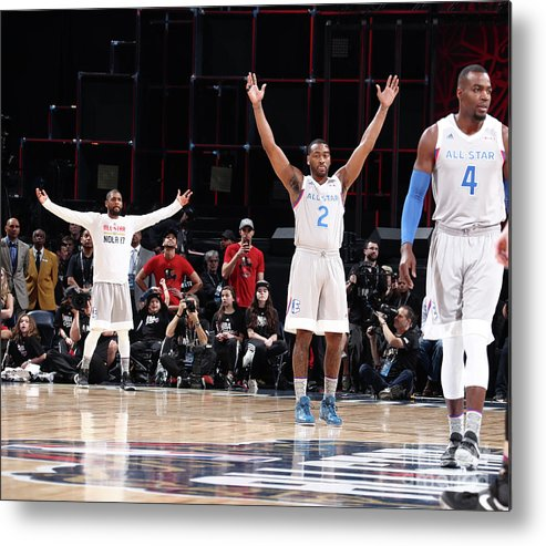 Event Metal Print featuring the photograph John Wall and Kyrie Irving by Nathaniel S. Butler