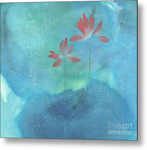 Lotus Emerged Out Of The Sludge Metal Print featuring the painting Luminous by Mui-Joo Wee