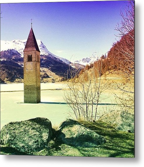 Beautiful Metal Print featuring the photograph Lago Di Resia - Alto Adige by Luisa Azzolini
