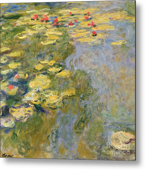 Impressionist Metal Print featuring the painting The Waterlily Pond by Claude Monet