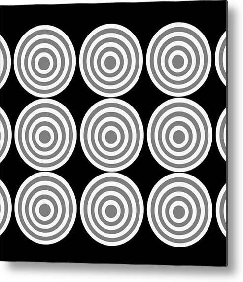 180 Circles Grayscale. If You Count Remember The Gray Circles. Metal Print featuring the photograph 180 Circles Grayscale by Asbjorn Lonvig