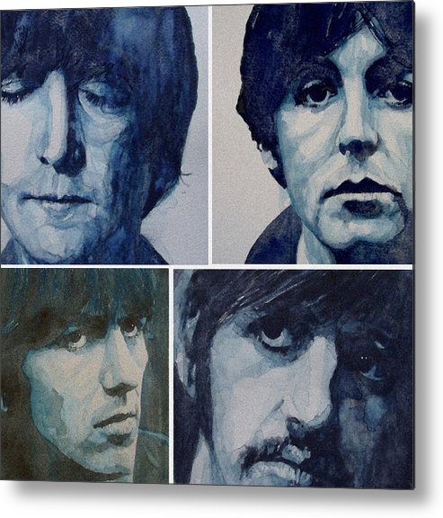 The Beatles Metal Print featuring the painting Come Together by Paul Lovering