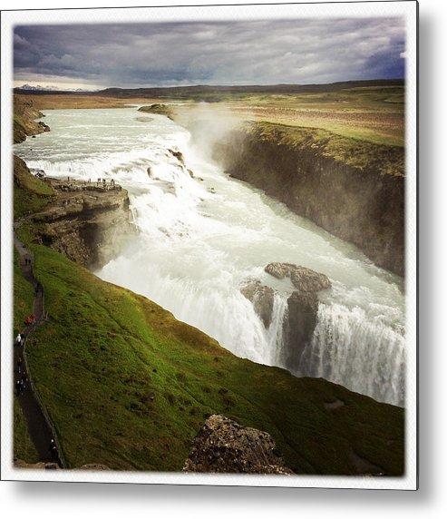 Gullfoss Metal Print featuring the photograph Gullfoss waterfall Iceland by Matthias Hauser