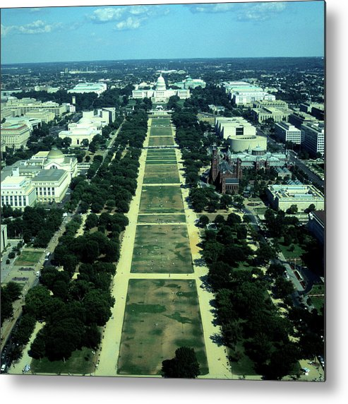 Downtown District Metal Print featuring the photograph Aerial View Of Capitol Building And by Hisham Ibrahim