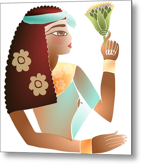 Woman Egyptian Metal Print featuring the digital art Ancient Beauty by Elaine Jackson