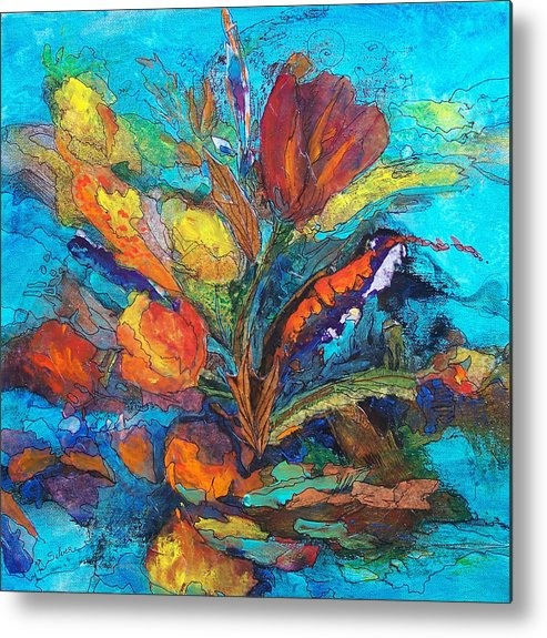 In Focus Metal Print featuring the mixed media Autumn In Oklahoma by Mtnwoman Silver