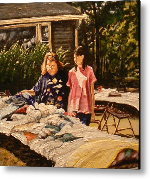 Rural Life Metal Print featuring the painting Bargain Hunter by Thomas Akers