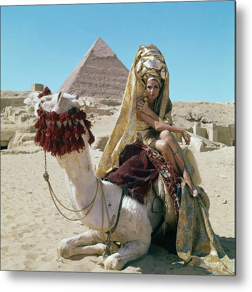Fashion Metal Print featuring the photograph Baronne Van Zuylen On A Camel by Leombruno-Bodi