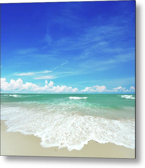 Tranquility Metal Print featuring the photograph Beach by Photo By Arztsamui