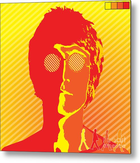 Artwork Metal Print featuring the digital art Beatles Vinil Cover Colors Project No.03 by Geek N Rock