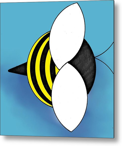 Bee Metal Print featuring the digital art Bee2011 by Loretta Nash