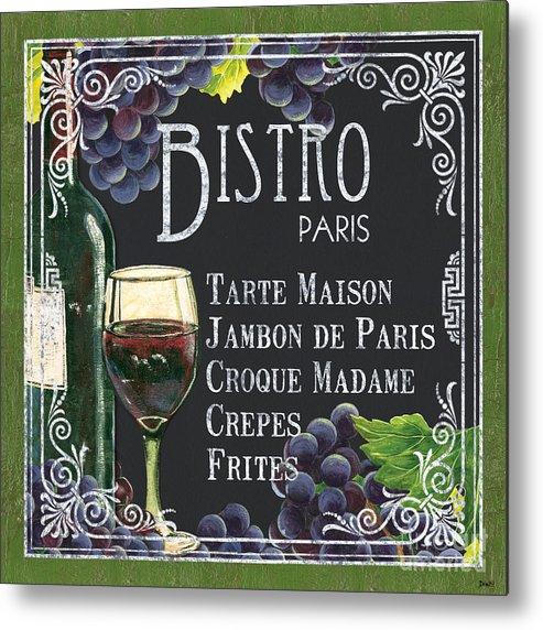 Bistro Metal Print featuring the painting Bistro Paris by Debbie DeWitt
