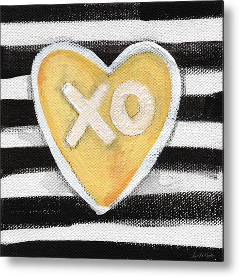 Love Metal Print featuring the painting Bold Love by Linda Woods