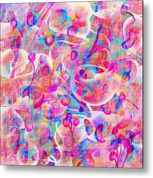 Abstract Metal Print featuring the digital art Candyland by William Russell Nowicki