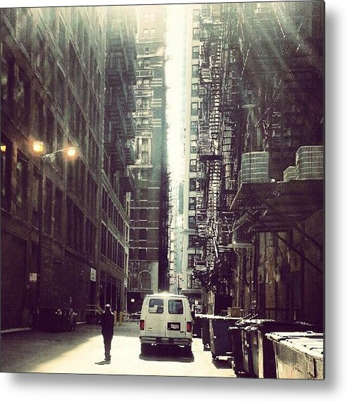 Chicago Metal Print featuring the photograph Chicago Alleyway by Jill Tuinier