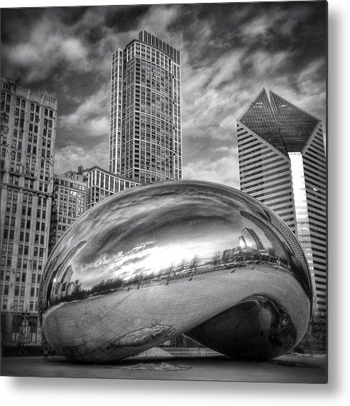 America Metal Print featuring the photograph Chicago Bean Cloud Gate HDR Picture by Paul Velgos