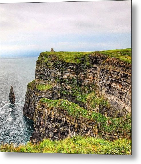 Europe Metal Print featuring the photograph #cliffsofmoher #ireland #landscape by Luisa Azzolini